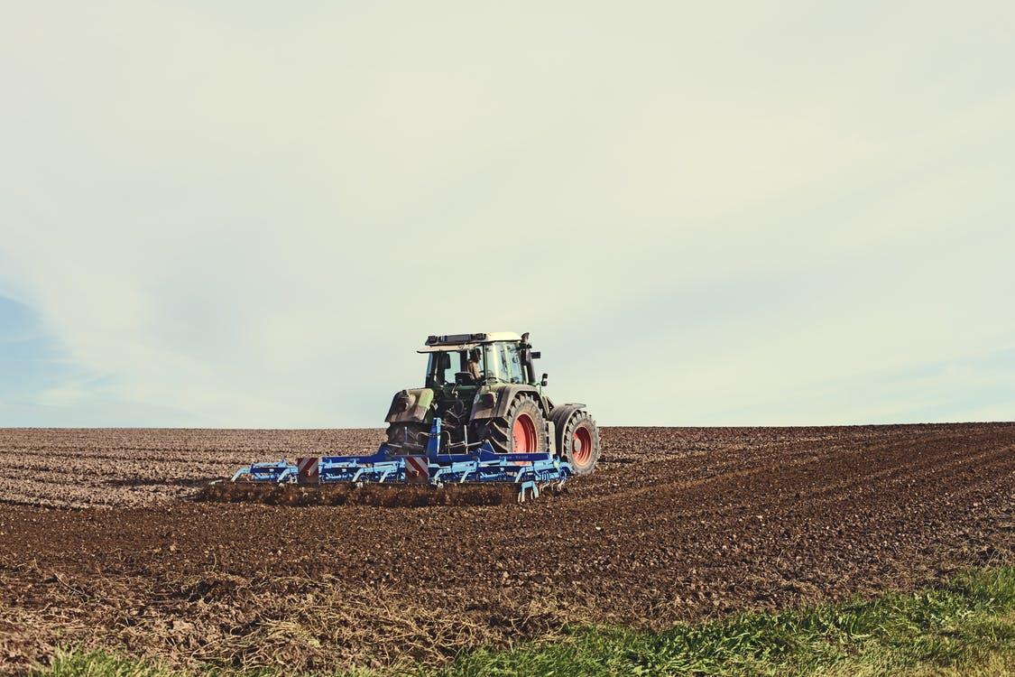 cultivator in field
